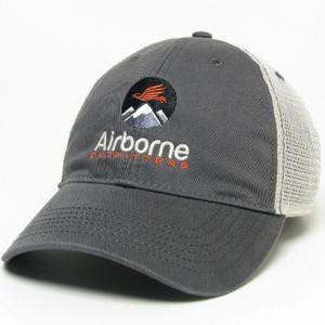 grey soft mesh trucker hat