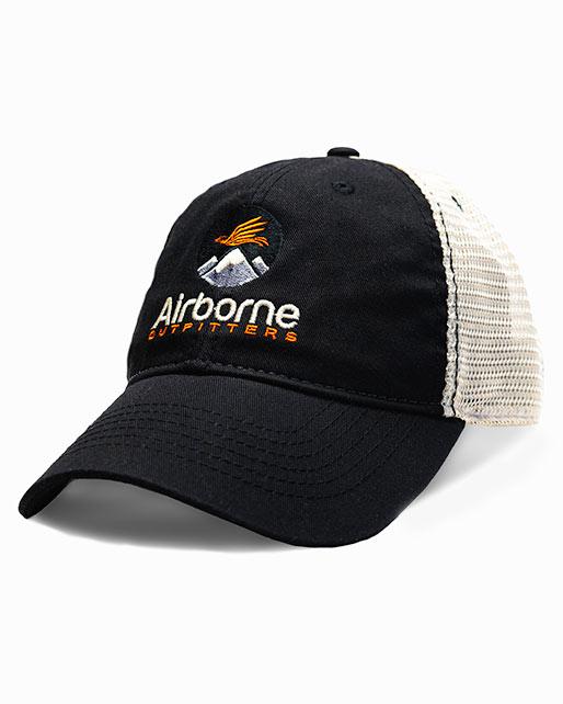 black soft mesh trucker hat