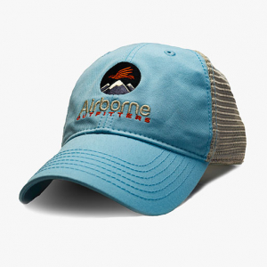 light blue soft mesh trucker hat