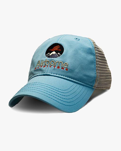light blue soft mesh trucker hat